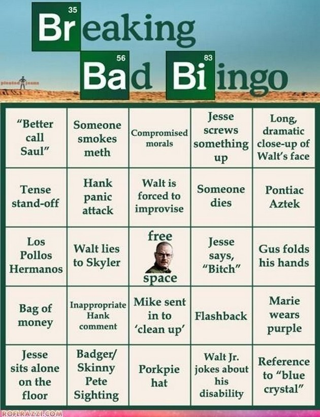 Breaking Bad Bingo