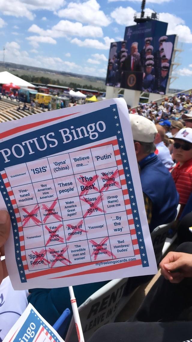 Trump Bingo